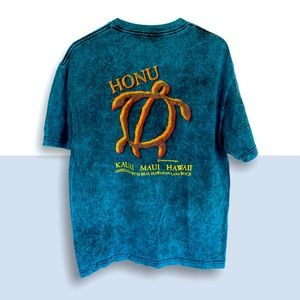 🌻 LAVA BLUES Honu Hawaii T-Shirt L